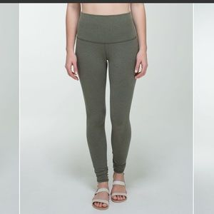 lululemon athletica Pants - Lululemon Wunder Under Pant Cotton Fatigue Green